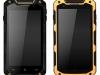 Китайский смартфон iMAN i5800C в чёрном и жёлтом корпусе