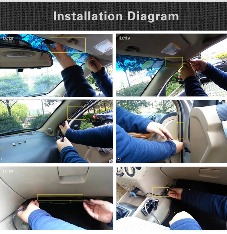 Установка китайского видеорегистратора Blackview G30 в автомобиле