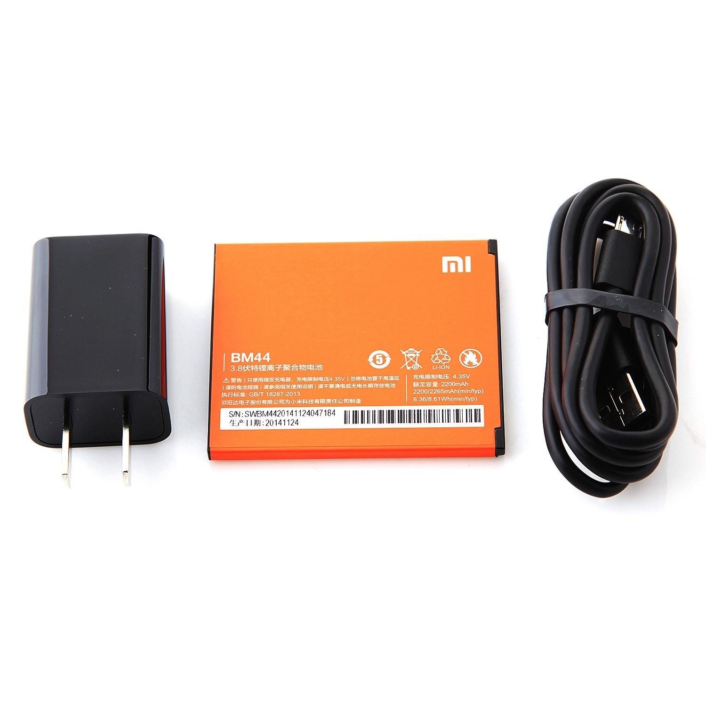 Зарядное устройство, батарея и USB кабель китайского смартфона Xiaomi Redmi 2