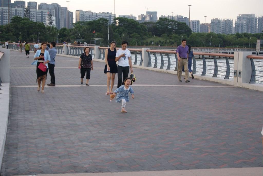 Горожане и туристы обожают смотреть на залив Шэньчжэнь