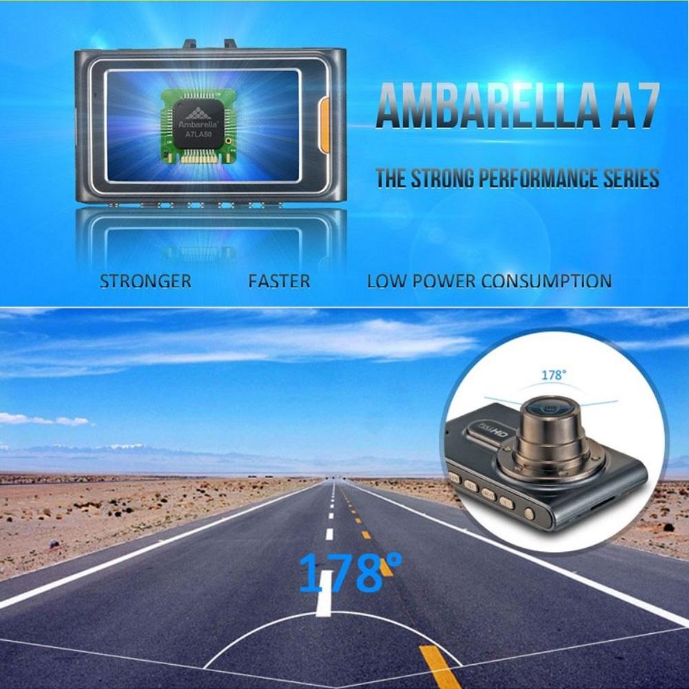 Лучший китайский видеорегистратор G95A обязан своим успехом чипу Ambarella A7