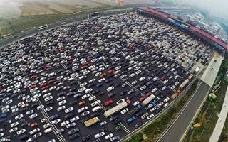 Пункт взимания оплаты за проезд по платной дороге в Китае