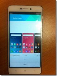 Выбор темы в китайском смартфоне Xiaomi Redmi 3