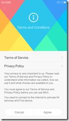 Лицензионное соглашение Xiaomi Redmi 3
