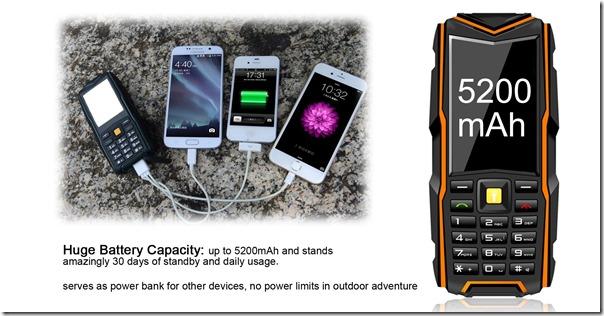 Китайский защищённый телефон VKworld Stone V3 в режиме power bank