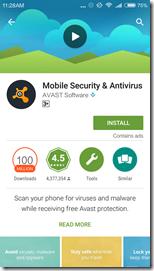 Антивирус Avast для Xiaomi Redmi 3