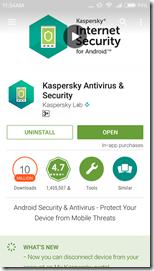 Kaspersky Antivirus на Xiaomi Redmi 3