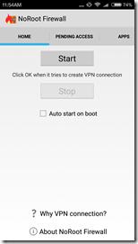 Запуск NoRoot Firewall на Xiaomi Redmi 3