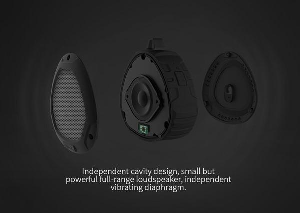 Строение портативной защищённой Bluetooth колонки Nillkin S1 PlayVox