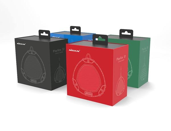 Красивая упаковка для портативной защищённой Bluetooth колонки Nillkin S1 PlayVox