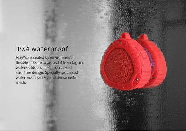 Портативная защищённая Bluetooth колонка Nillkin S1 PlayVox на липучке
