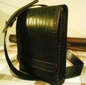Мужская сумка-планшетка из натуральной кожи