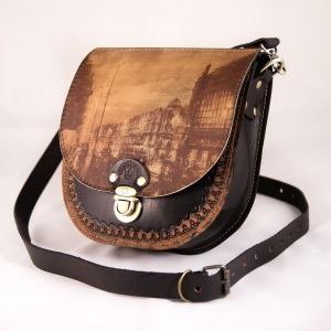 Компактная женская сумка из натуральной кожи
