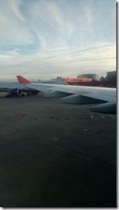 Начало рулёжки самолёта