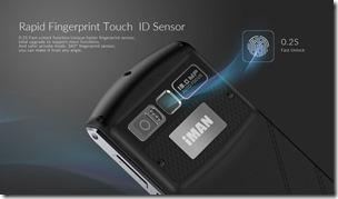 Сканер отпечатка пальца в смартфоне iMan Victor