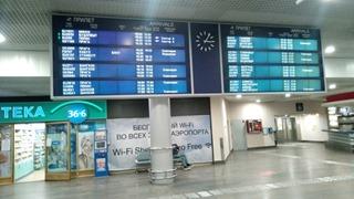 Ожидание друзей в аэропорту Шереметьево