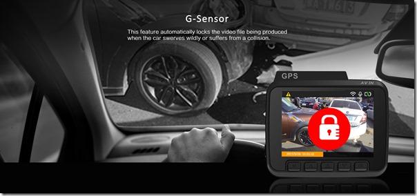 Китайский видеорегистратор AZDome GS63H - так работает G-sensor